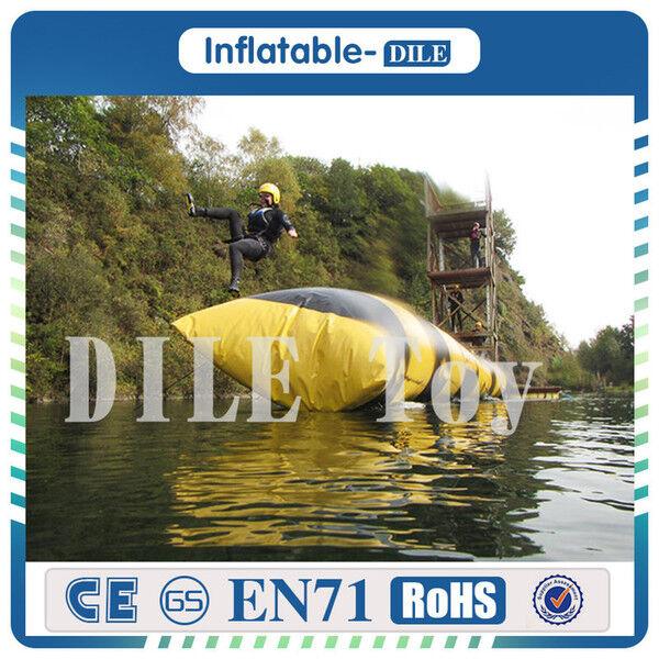DHgate 6x2m 0.9mm pvc inflatable water blob inflatable blob jump water toys water blob for sale
