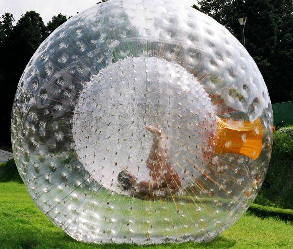 DHgate zorb ball inflatable ball zorbing outdoor sports toys human hamster ball 2.5m pvc/tpu for cho