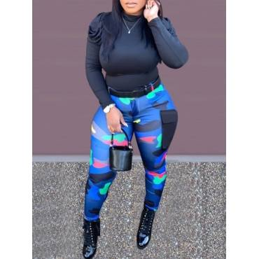 Lovely Camouflage Sports Black Two Piece Fashion Hot Sale Suit