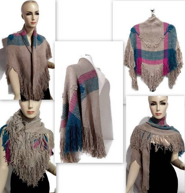 Andrea Wagner THE BEIGE ROSES SHAWL