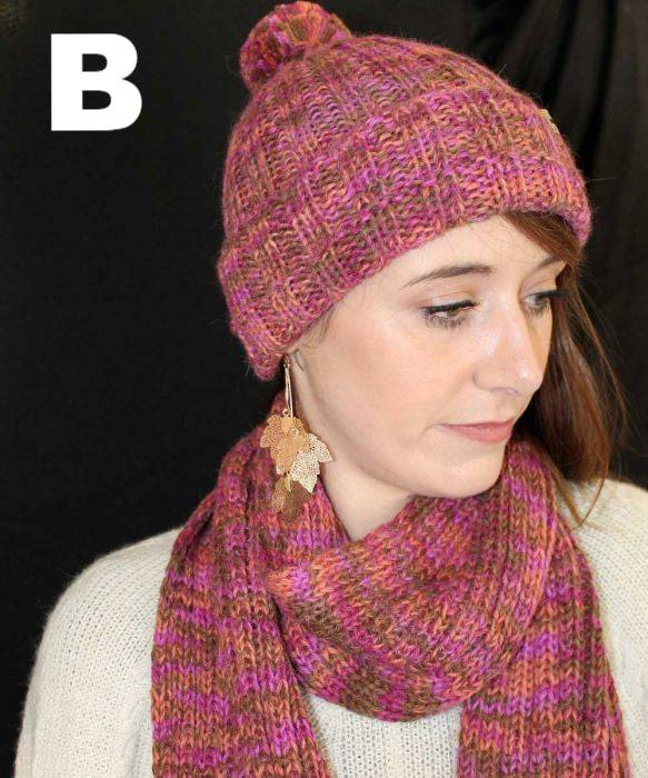 PL Chunky Pallet Hand Knit Alpaca Accessories Hat Gauntlets Scarf