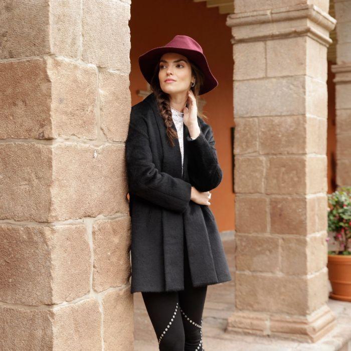PL Alpaca Shawl Collar Mid-Length Coat