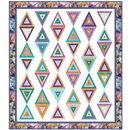 Pieced Brain Quilt Designs Beaded Curtain Quilt Fabric Kit from Pieced Brain Quilt Designs