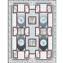Hoffman Fabrics - Winters Zen Garden Blue Colorway Quilt Fabric Kit