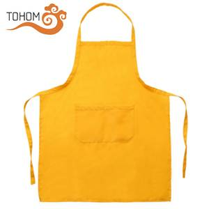 Promotional Cheap Price Polyester Waterproof Uniform Custom Cooking Kitchen Apron With Front Pockets