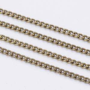 PandaHall Brass Curb Chains Twisted Chains Unwelded with Spool Oval Antique Bronze 3x2x0.6mm Nickel Free Long Chain Jewellery
