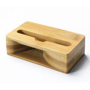Bamboo Music Mini Speaker for Cell Phone Accessory Natural Wooden Speaker