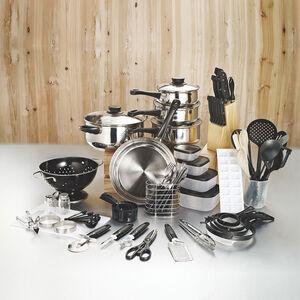 80-Piece 2019 Home Starter Set Kitchenware Cookware Utensils Kitchen Cooking Combo Set