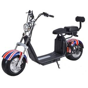 Russia electrical motorcycle citycoco for adult 2000w 20ah electro bike scooter music rent