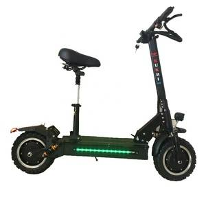 11inch 60v 1200w powerful motor double drive  with seat adult fastest folding portable electric skat