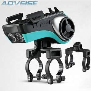 AOVEISE AV127B multifunctional bicycle flash light smart phone holder,double cycling bicycle accessories front lights bike