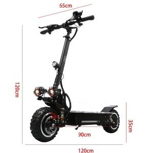 YUME  11inch  60v 3200W dual motor folding powerful off road adult electric scooter with removable s