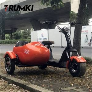 2019 electric motorbike motorcycle side car with three wheels one seat & small trailer