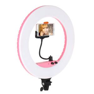 LW-RL01 BIg 18 Inch Ring Light Photography Beauty Makeup Webcast Hairdressing Led Ring Light with Mirror and Phone Clip