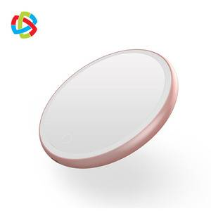 2019 New Design LED Makeup Mirror 10W mobile phone wireless charger HLQ-I2