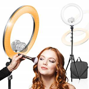 RL-18 Rechargeable Flash Make Up Salon Vanity Mirror Mobile Phone Makeup Led Ring Light