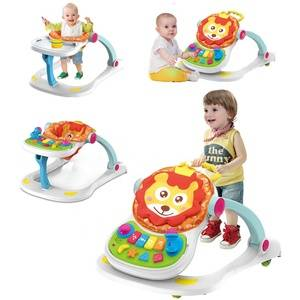 wholesale baby toys  stroller  4 in 1 babyactivity walker with Music & Lights baby dinning table