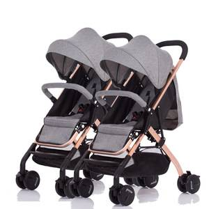 2 baby twin stroller detachable collapsible stroller outdoor activities light and safe multiple strollers