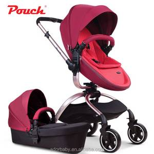 Aorbaby Pouch Clothe /leather 3-in-1 Travel System, High Landscape,Folding Baby Stroller with storage bags Pram F89/F90