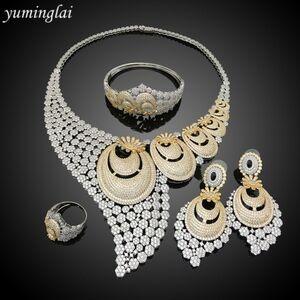 Costume Women Bridal Wedding AAA AD Earrings Cubic Zirconia Costume Jewelry American Diamond Jewellery
