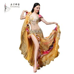 Women Push Up Egyptian Bra Belly Dance Costume Performance Belly Dance Clothes Wear