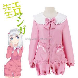 Wholesale New Eromanga Sensei Anime Izumi Sagiri Cosplay Costume Japanese Anime ink Uniform Suit Outfit Clothes Top &Pants