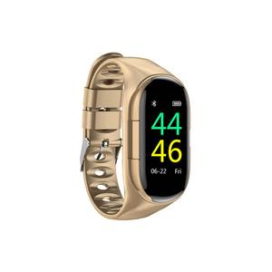 New electronic M1 smartwatch with wireless Mini earphones with Heart Rate Monitor Smart Wristband with tracker