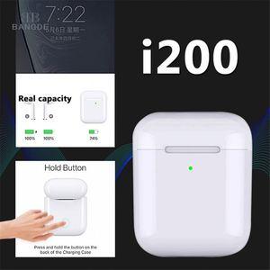 i200 TWS 1:1 Pop up Separate use Wireless Earphone QI Wireless Charging Earphones Earbud Pk i90 i100 i80 tws for phones