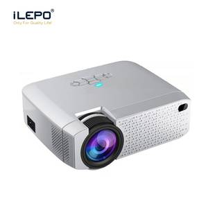 LED Projector with WiFi Mirroring play Portable Projectors Support Miracast for Android phone iPhone mirror 1600 lms USB TF play