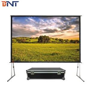 BNT 300 Inch Outdoor / Large Exhibition Hall Front and Rear Projector Fast Fold Projection Screen