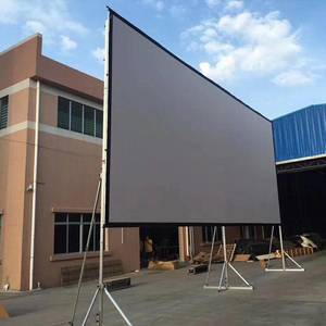400 inch portable outdoor foldable  fast fold projector  screen with front and rear fabric