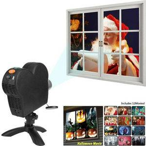 Window Projector Window Display Movies Projector Christmas Halloween Holidays Projector  Dropshipping