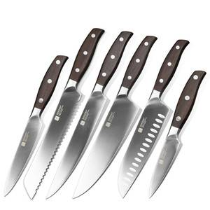 6 pcs high quality German 1.4116 stainless steel kitchen knife set