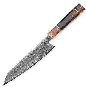 Damascus Kitchen Knife Handmade Japanese Chef Knife VG10 Japanese Damascus Steel Kiritsuke Knives Home Tools Cooking Gadgets NEW