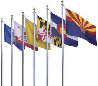 Complete Set of 50 8' X 12' Nylon Outdoor State Flags
