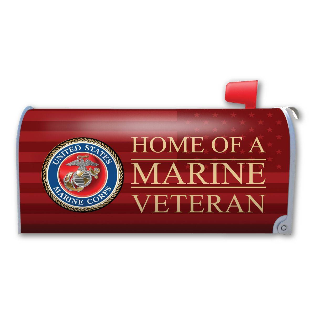 Home of a Marine Veteran Mailbox Cover Magnet