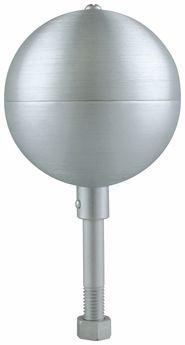 Clear Aluminum Ball Outdoor Flagpole Ornament