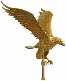 Eagle Deluxe Gold Eagle Outdoor Flagpole Ornament