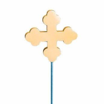 Gold Botonee Cross Outdoor Flagpole Ornament