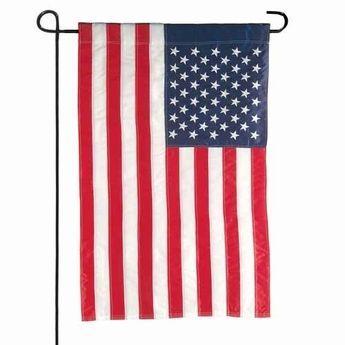 US Garden Flag Banner & Bracket Set