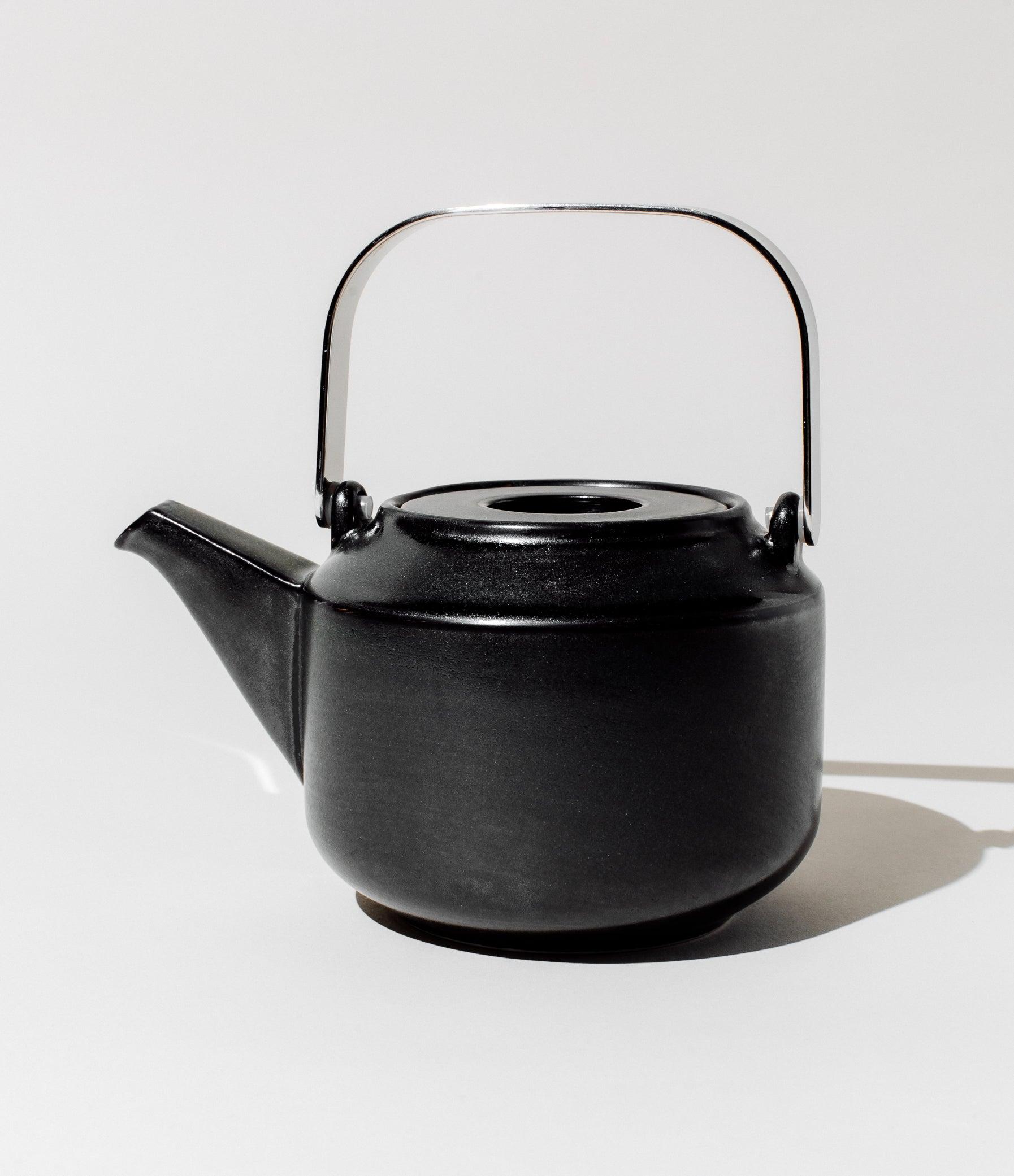 Kinto Porcelain Leaves-To-Tea Teapot Teaware BLACK by Art of Tea