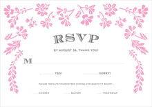 Evermine Custom Response Cards - Pink - Garden Romance