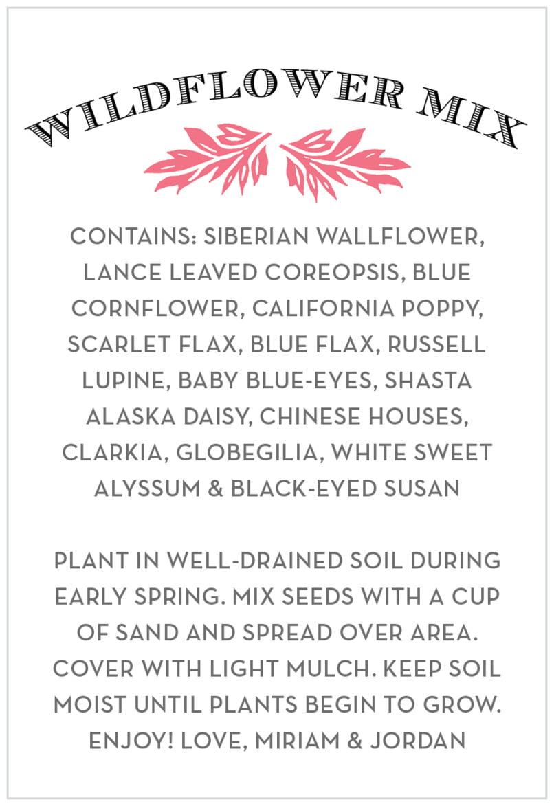 Evermine Custom Ingredient Labels - Deep Coral - Garden Romance