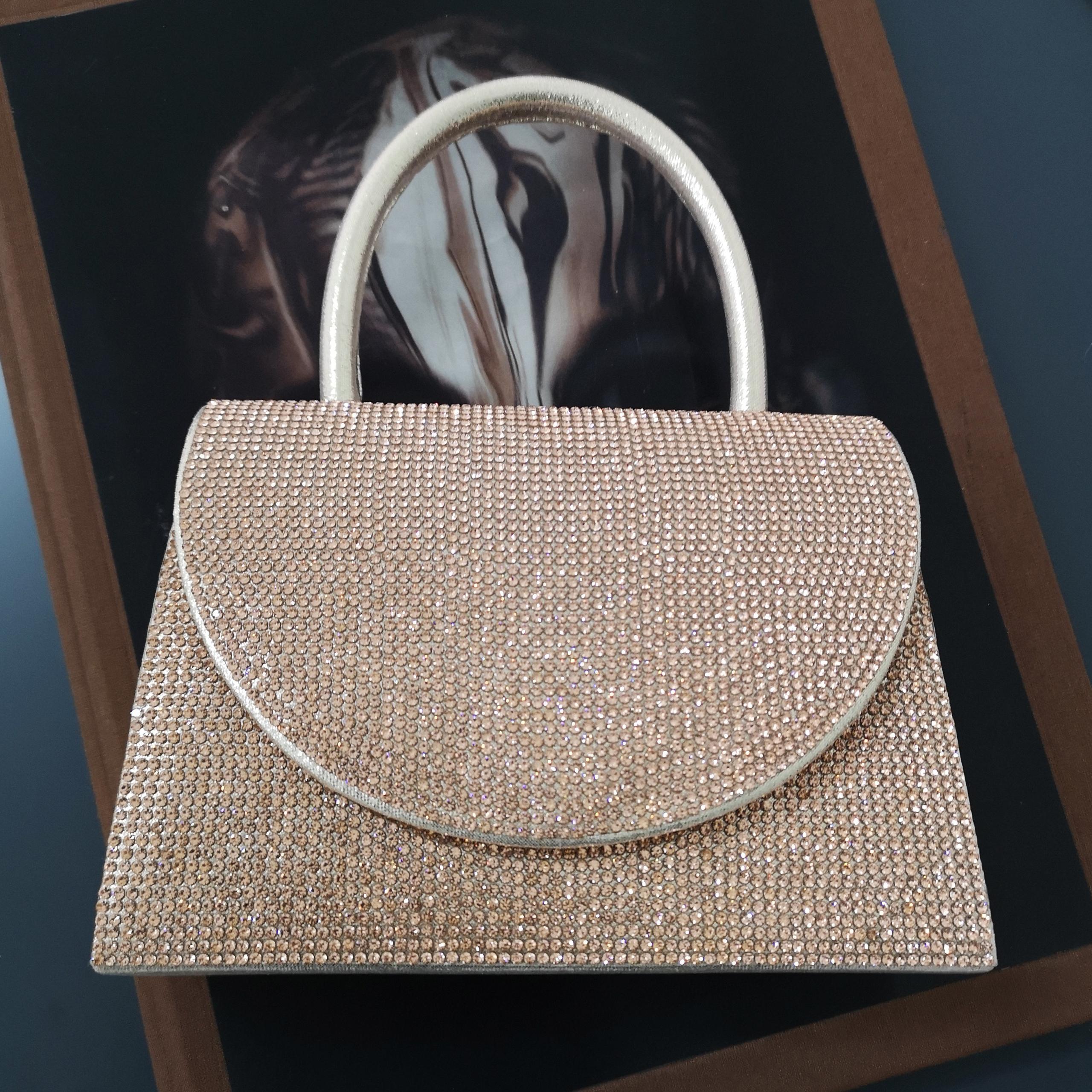 EGO Single handle Boxy Bag In Rose Gold Diamante,, Rose Gold  - female - Size: One Size