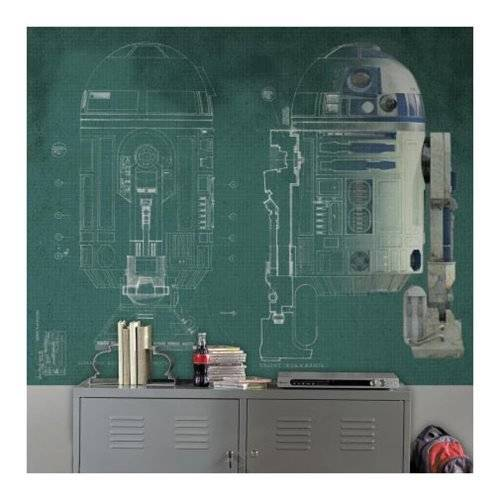 Star Wars R2-D2 Ultra-Strippable Prepasted Mural
