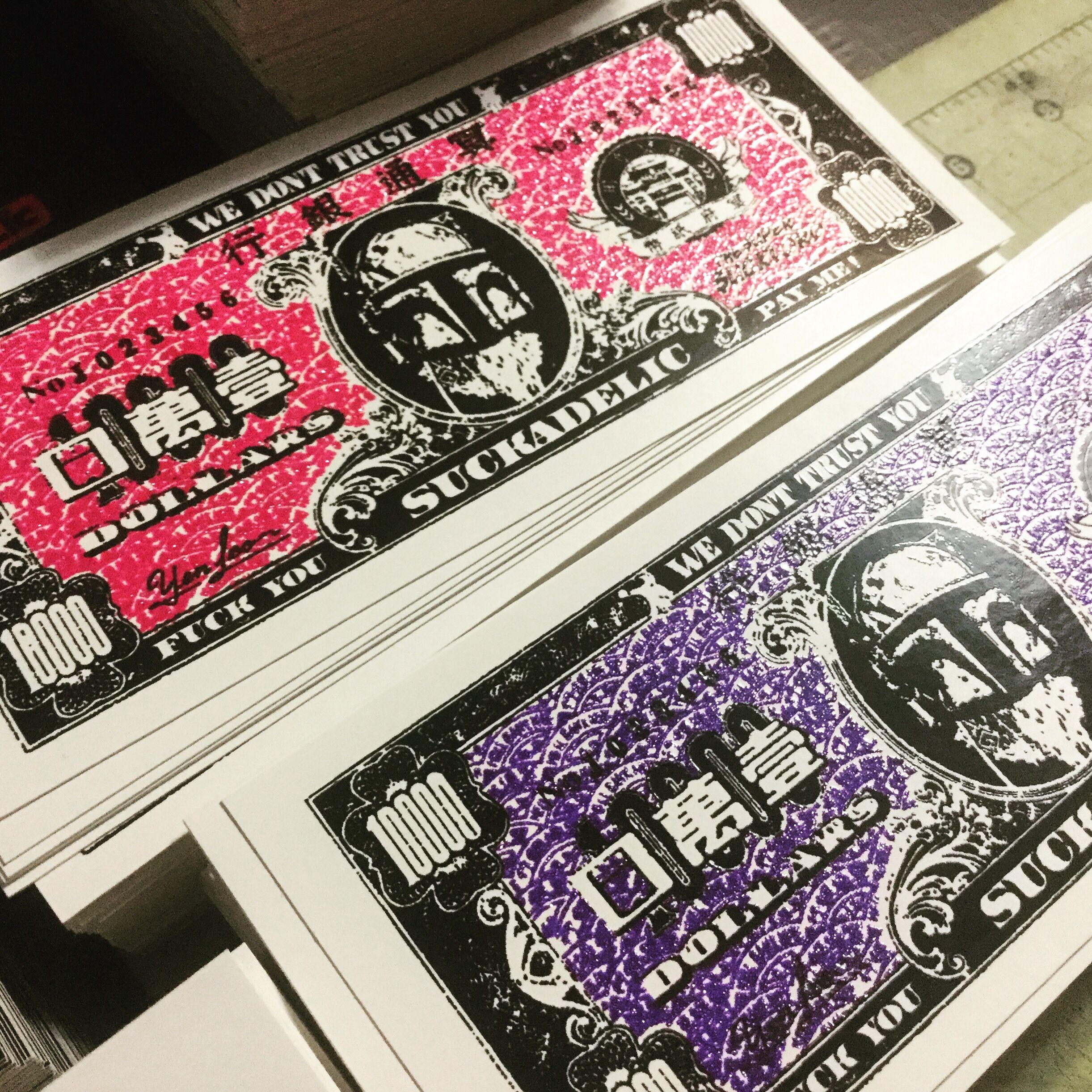 Discordia Culture Shop SUCKADELIC Stoopid Stickers Series 01 STOOPIDSTICKER-PINKGLITTER-FULLSET