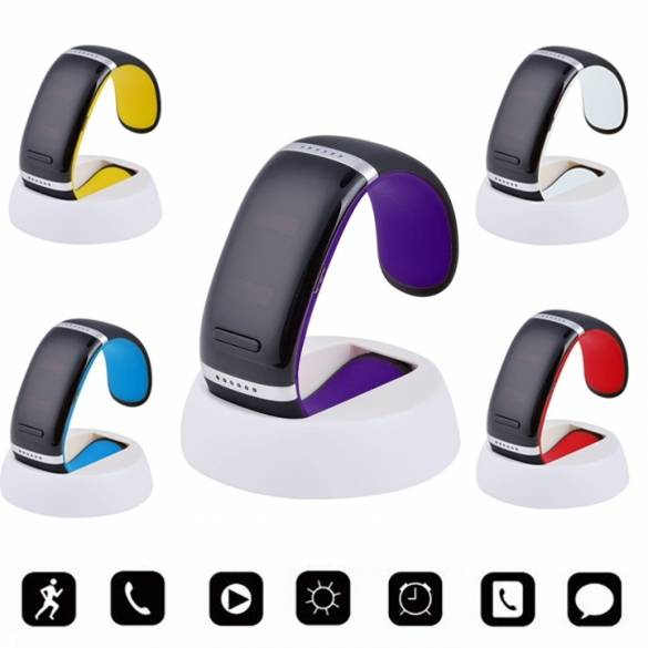 Watch Me Wrist SMART Bracelet Watch Phone Bluetooth For IOS Android Samsung iPhone White Orange
