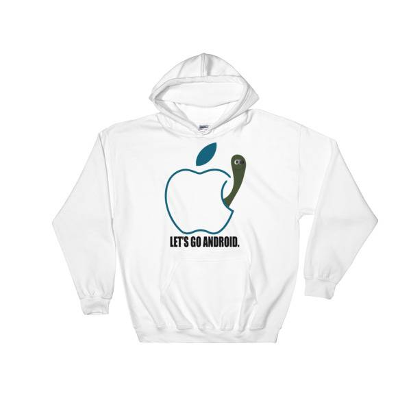 PNK Commerce Store Apple Android Funny Art Hooded Sweatshirt White / 5XL