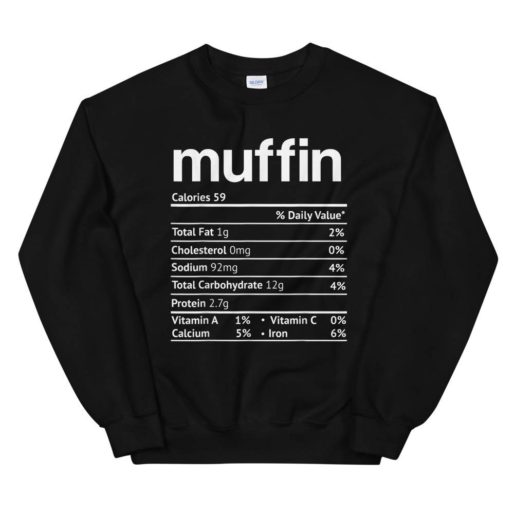 Dragon Muffin nutrition facts thanksgiving christmas food Unisex Sweatshirt Sport Grey / L