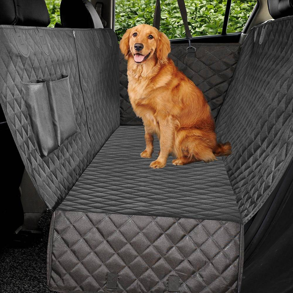 Talis Dog Car Seat Cover Luxury Quilted Car Travel Pet Dog Carrier  Bench Seat Cover black 2   162x1